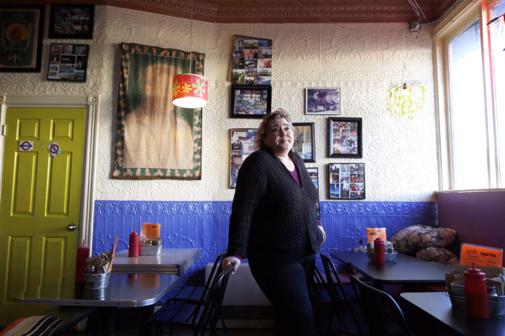 Colleen Kelley, owner of Silly's, known for its colorful, fun, tchotchke-filled decor. Kelley once set off in her car in hot pursuit of thieving patrons – take that, TV crime dramas – to get Silly's stuff back.