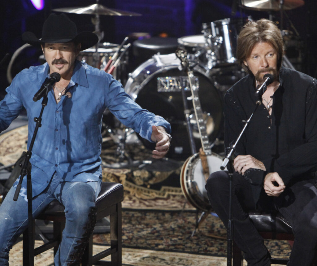 "Kix Brooks, left, and Ronnie Dunn collaborated on their new album, ""Reboot,"" with some of country music's brightest stars, including Kacey Musgraves, Ashley McBryde and Brothers Osborne."