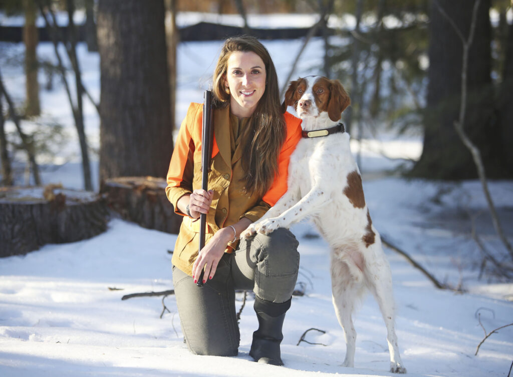 Christi Holmes didn't grow up in a hunting environment, but when she moved to Portland in 2013 she got her hunting license because she was interested in where her food came from. She's now an avid hunter who created the Maine Women Hunters Facebook group.