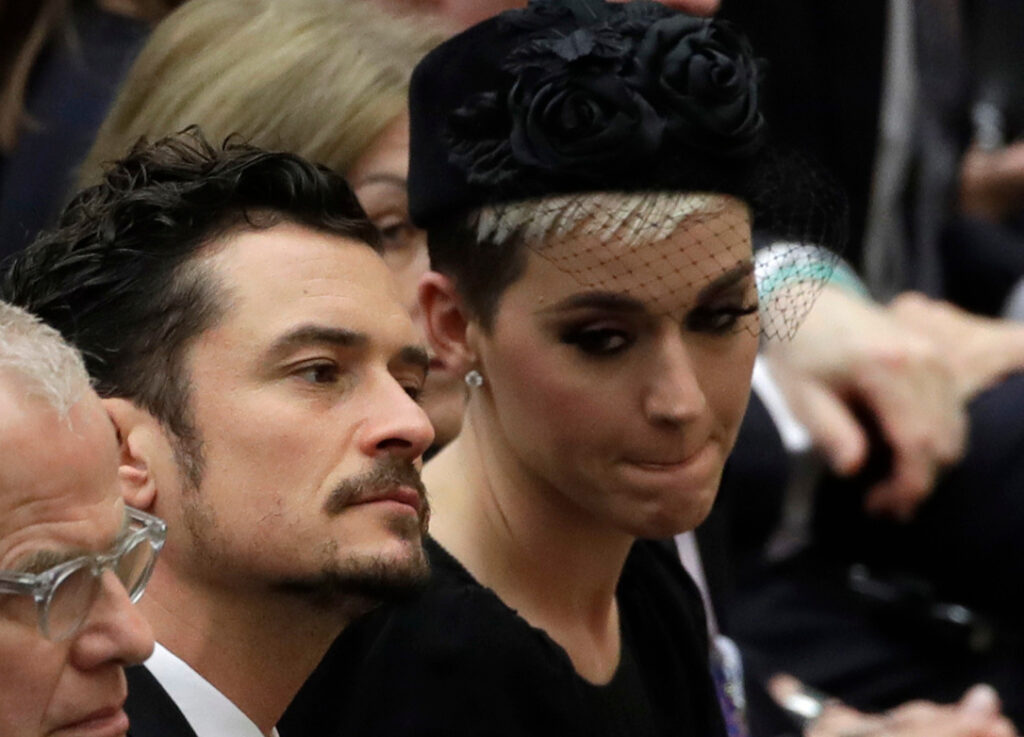 Orlando Bloom and Katy Perry attend an audience with Pope Francis last April.