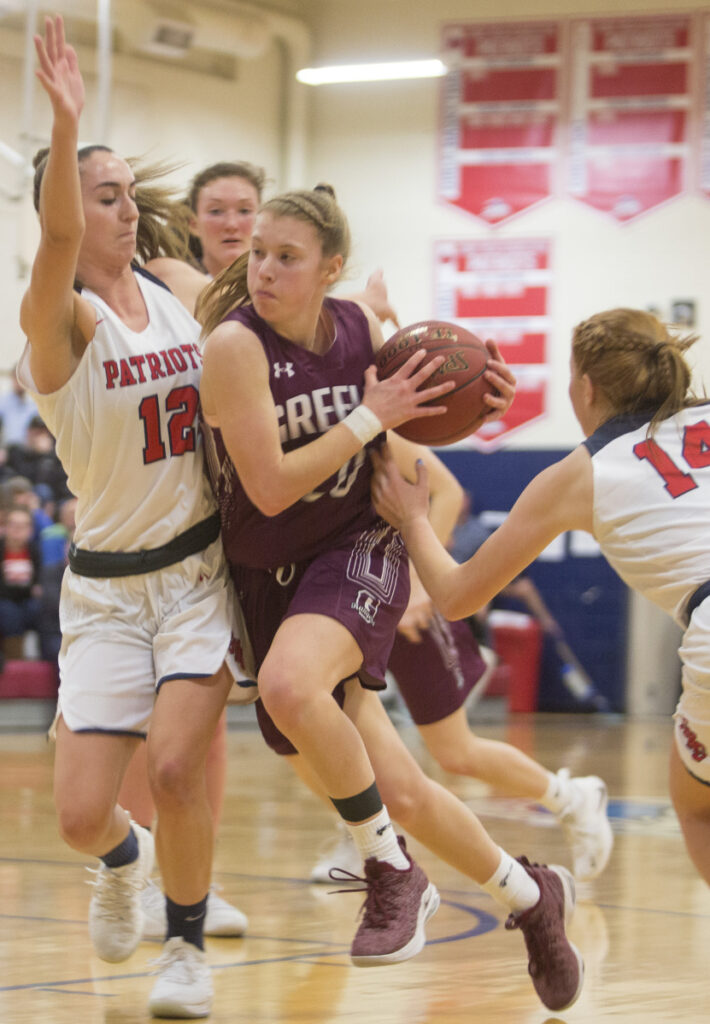 Anna DeWolfe has continued to be a force for the Greely girls' basketball team as a senior, and is joined by outstanding teammates in the backcourt.