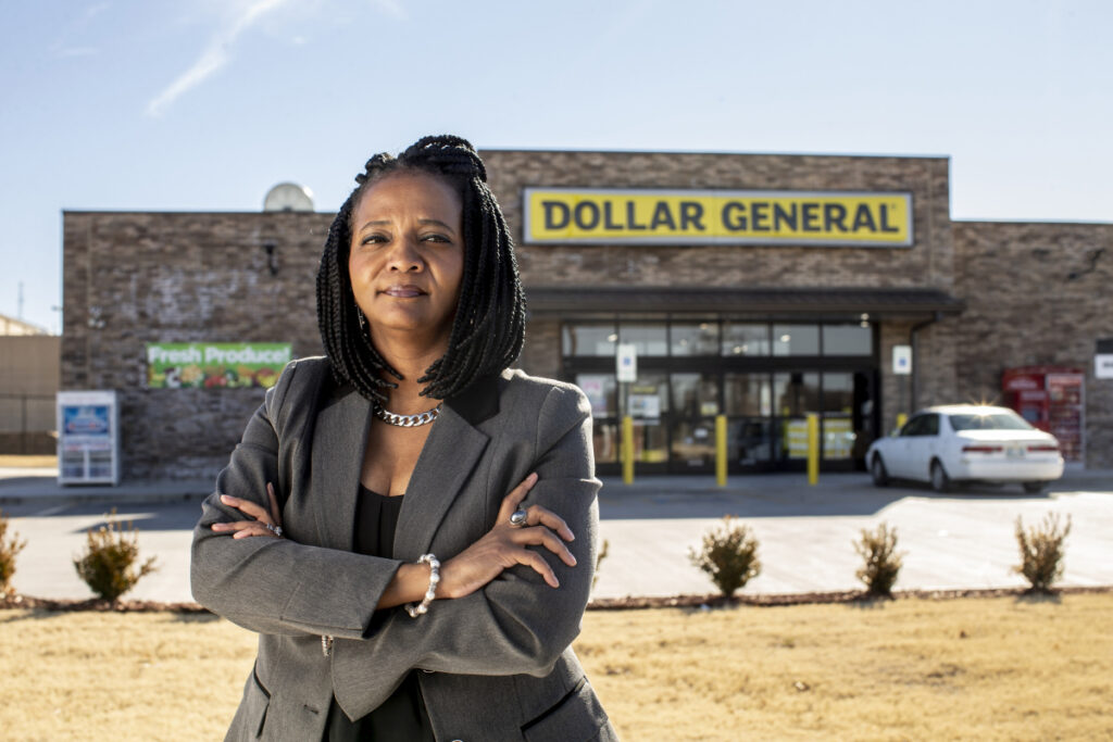 Vanessa Hall-Harper, who ushered in restrictions on new dollar store openings in North Tulsa, said she's not against the stores altogether. But their unstoppable rise, she said, keeps grocers from opening.