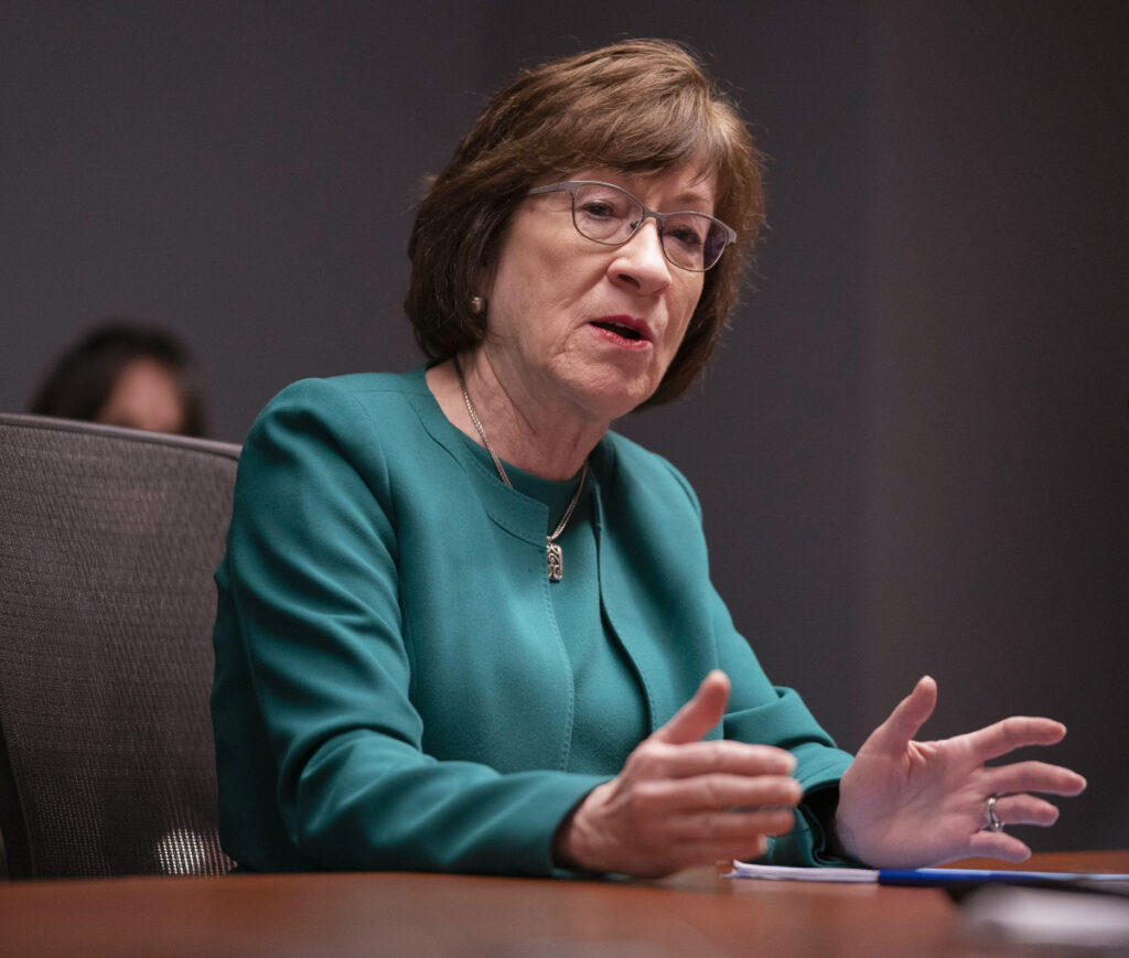 Sen. Susan Collins is opposing President Trump's nominee to a federal appeals court because the nominee argued in court against the Affordable Care Act's pre-existing conditions protections.