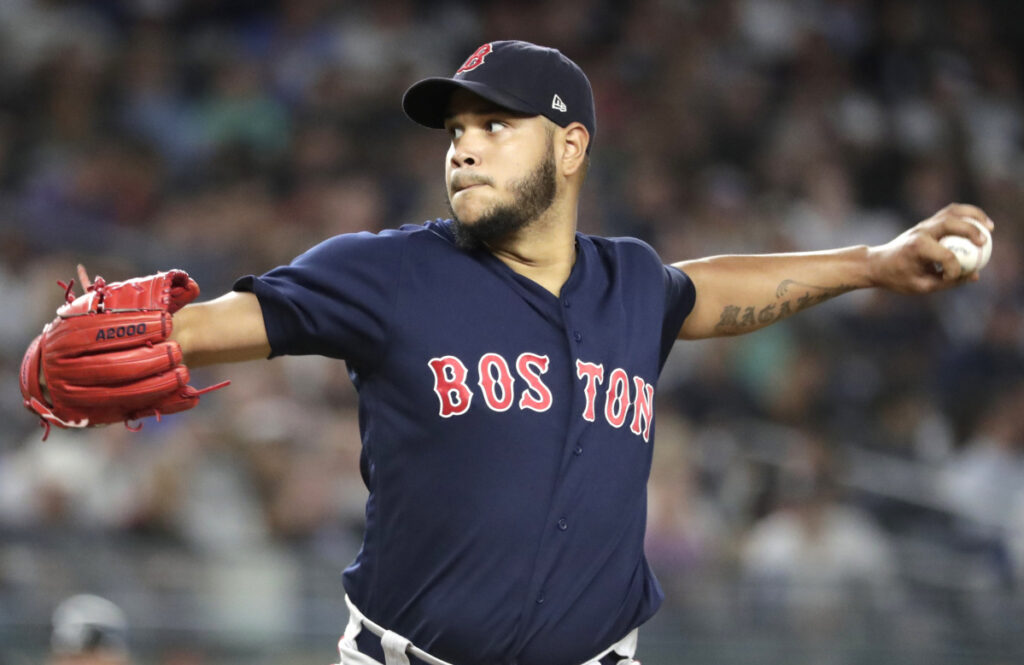 Boston pitcher Eduardo Rodriguez got some advice from Chris Sale and is throwing a slider that looks bigger and sharper than any breaking ball he's thrown.