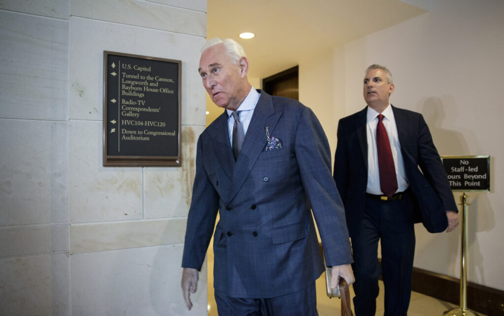 Longtime Donald Trump associate Roger Stone was ordered Thursday not to speak publicly about the criminal case against him after he put up an Instagram post that showed a picture of the judge in the case and what appeared to be crosshairs.