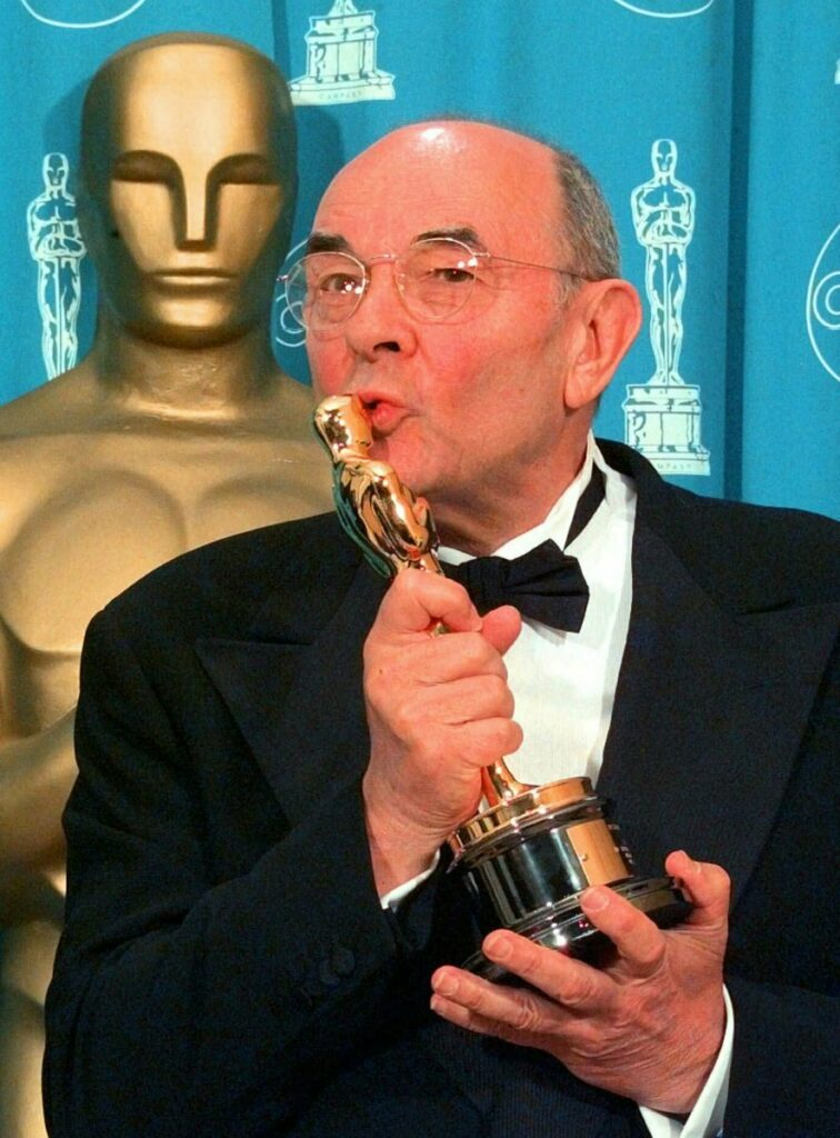 Stanley Donen receives an Academy Award for Lifetime Achievement in 1998 in Los Angeles.