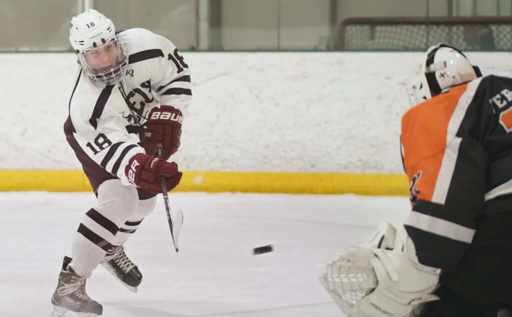 Jake MacDonald of Greely has been a dominant player on a dominant team that will take a 16-2 record into the Class B South playoffs this week.