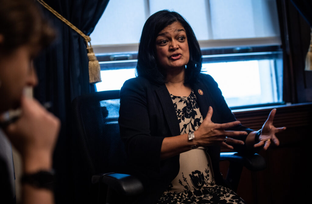 A plan by Rep. Pramila Jayapal, D-Wash., the co-chair of the Congressional Progressive Caucus, would move every American onto one government insurer in two years.