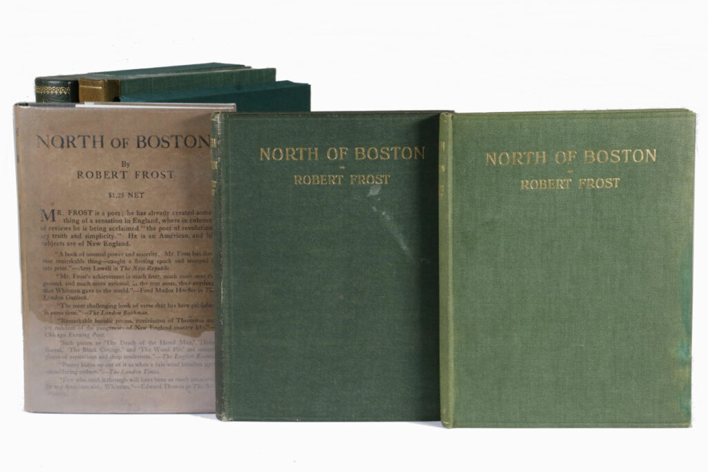 "Friday's auction includes three signed first editions of Robert Frost's signature book, ""North of Boston."""