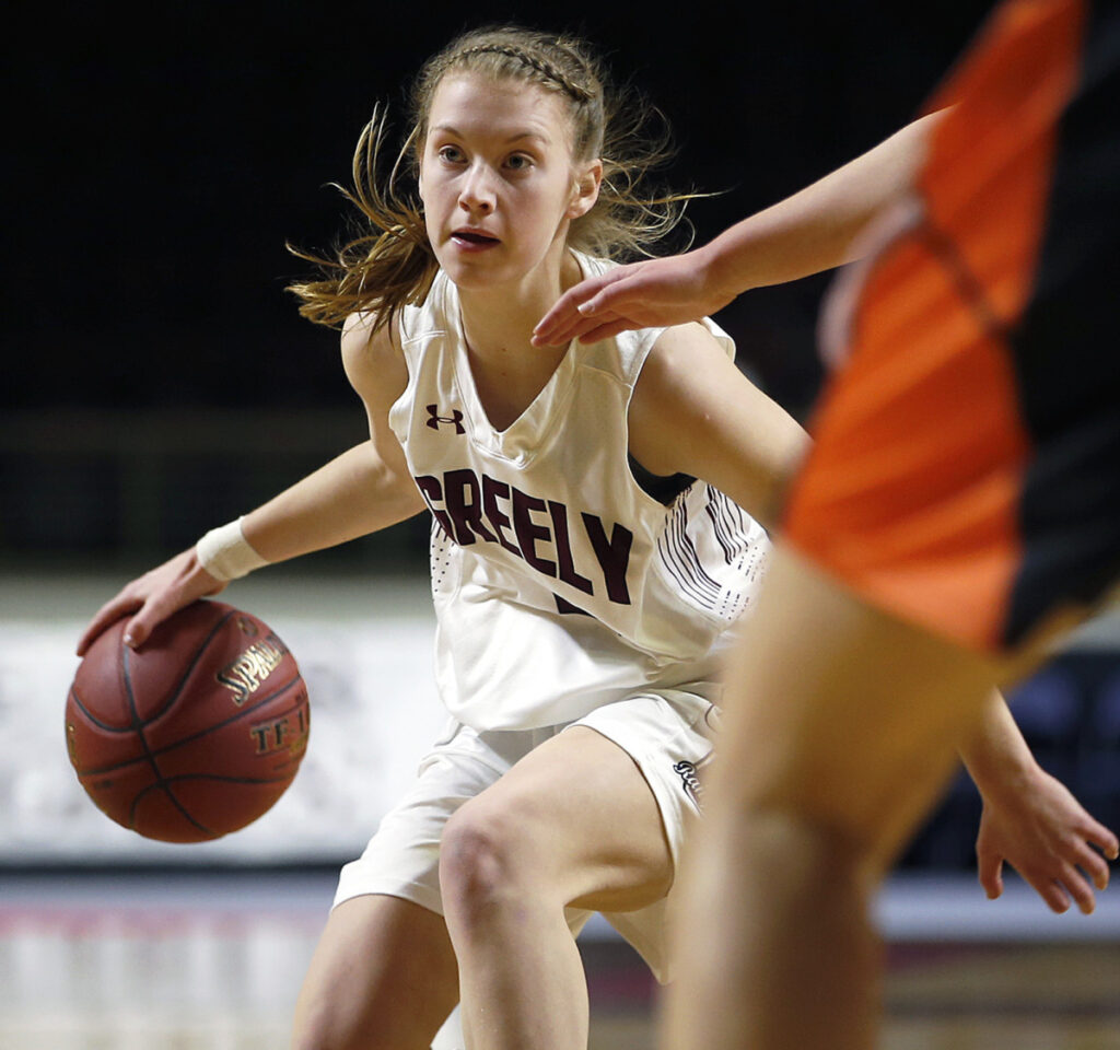 Anna DeWolfe showcased her many talents during the Class A South tournament for undefeated Greely. She scored 32 points in the final, which was one point less than Brunswick, the other finalist, totaled as a team.