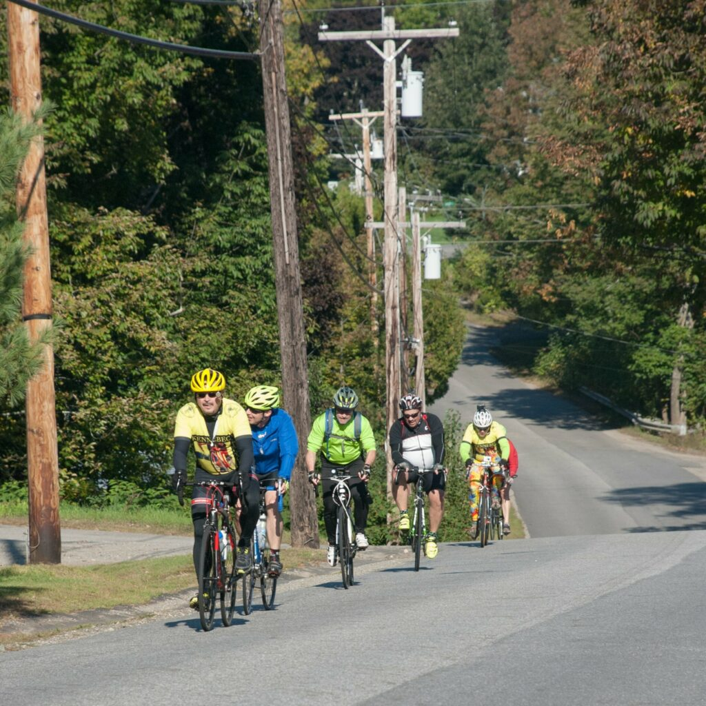 Cyclists take part in a past Share The Road With Carol, a memorial bicycle ride in Windsor and Whitefield in honor of the late Dr. Carol Eckert, and to promote the cause of bicycle safety.