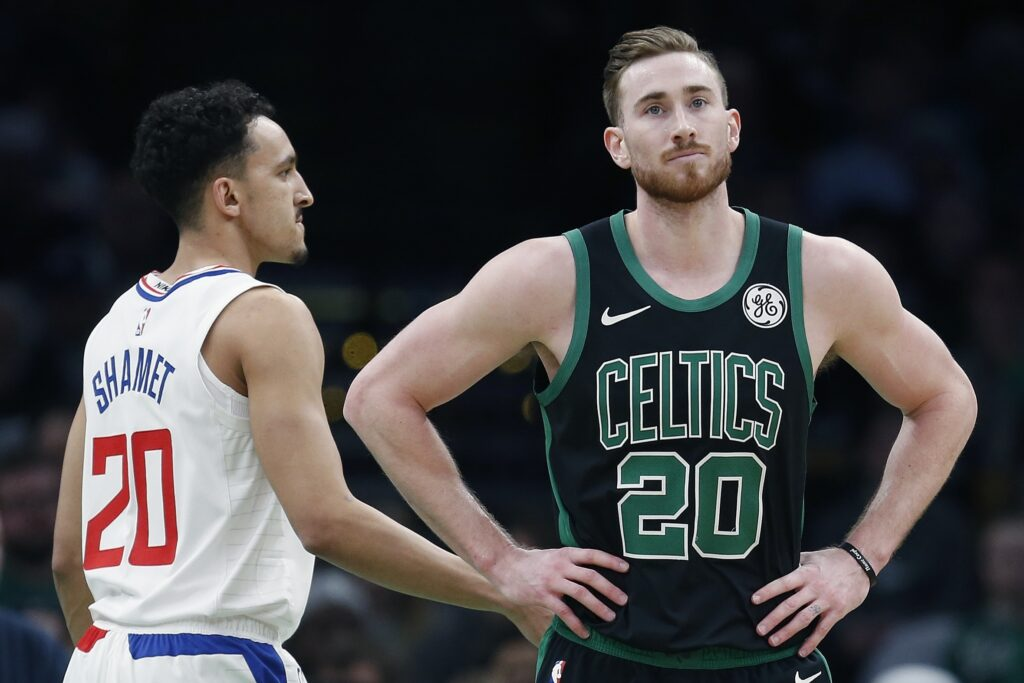 Gordon Hayward's look says it all. The Celtics blew a 28-point lead Saturday night to lose their second straight game. Boston has no time for a slump, as it prepares to play at Philadelphia on Tuesday.