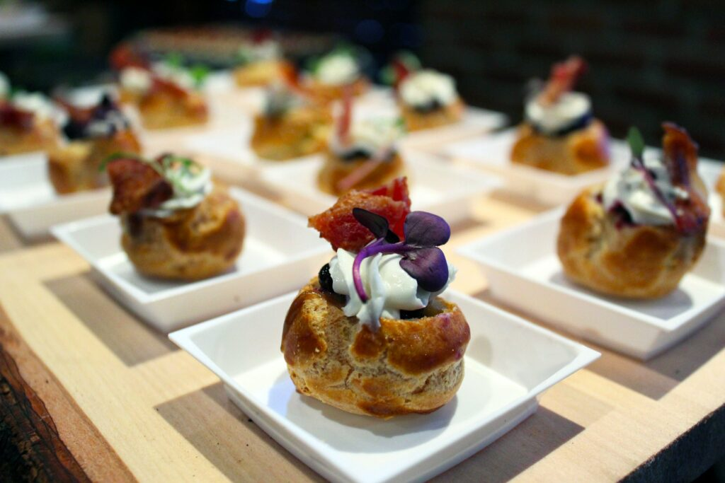 Savory breakfast balsamic cream puff with gruyere and smoked bacon was chosen the best at the Incredible 2019 Breakfast Cook-Off on Thursday.