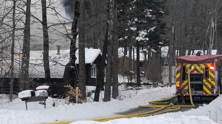 A man died Wednesday in a house fire in Privet Road in Dedham, the Maine State Fire Marshal's Office said.