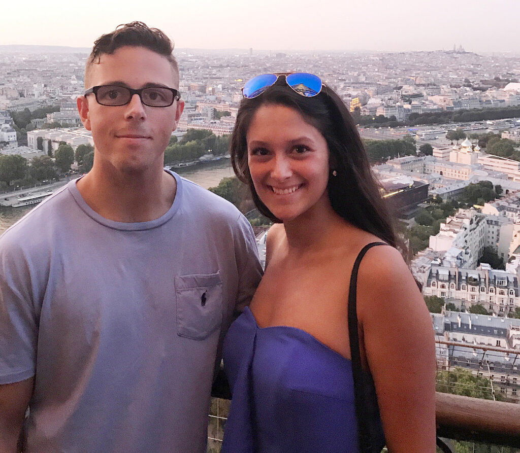 Shawn Mckeough Jr., 23, was killed in Arkansas last Friday when he tried to stop an armed robbery. He's a Westbrook native and was stationed at a nearby Air Force base. He's with his girlfriend Sarah Terrano.