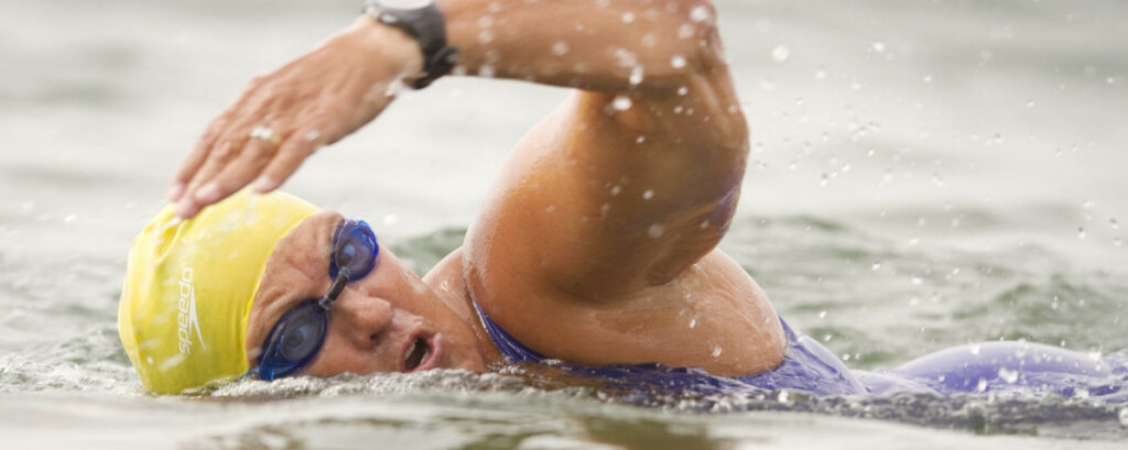 Though poor conditions last week kept her from finishing the last leg of a seven-channel challenge, Pat Gallant-Charette, 68, has no plans to stop notching marathon open-water swims.