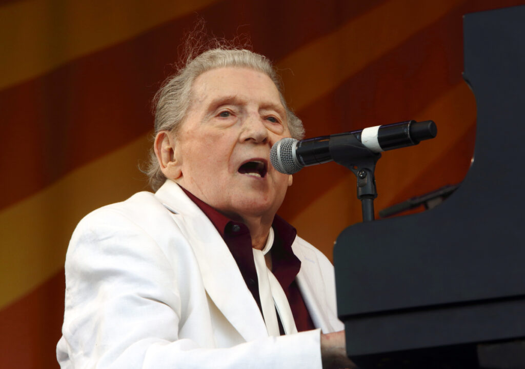 Jerry Lee Lewis performs in New Orleans in 2015.