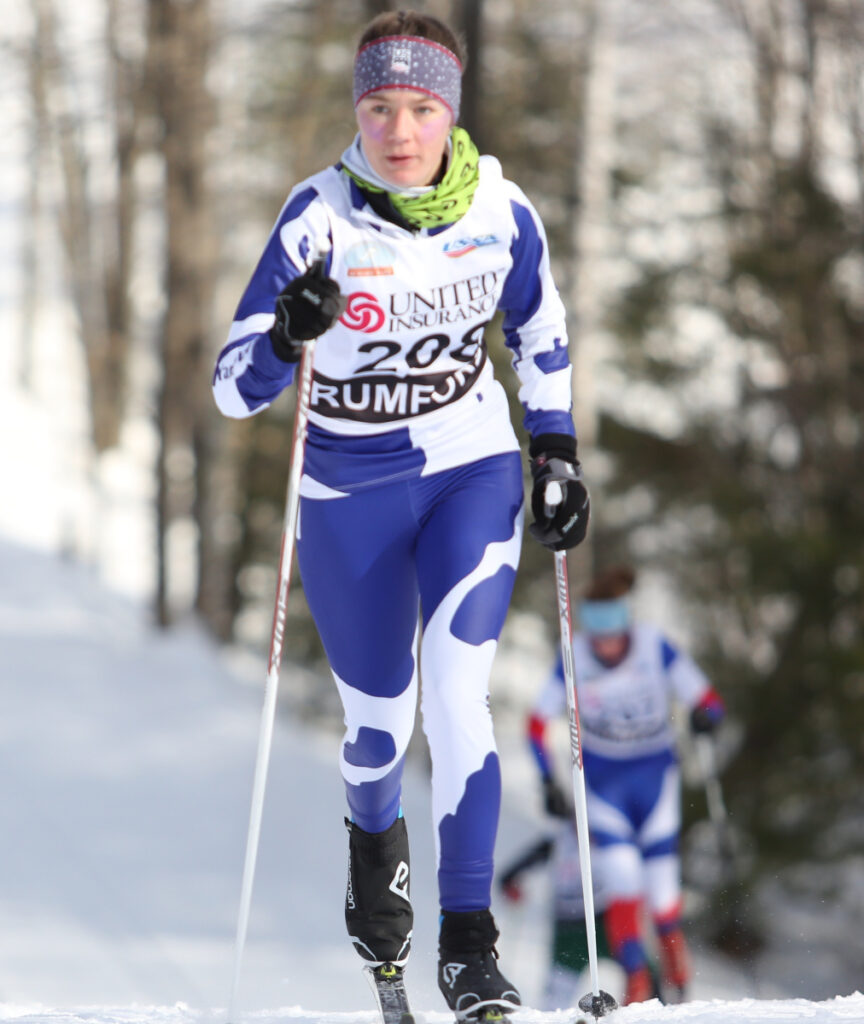 Maddie Marston decided after her freshman year at Yarmouth High to give up Alpine and ski just for the cross-country team. She was the team's top finisher in freestyle and pursuit as a sophomore.