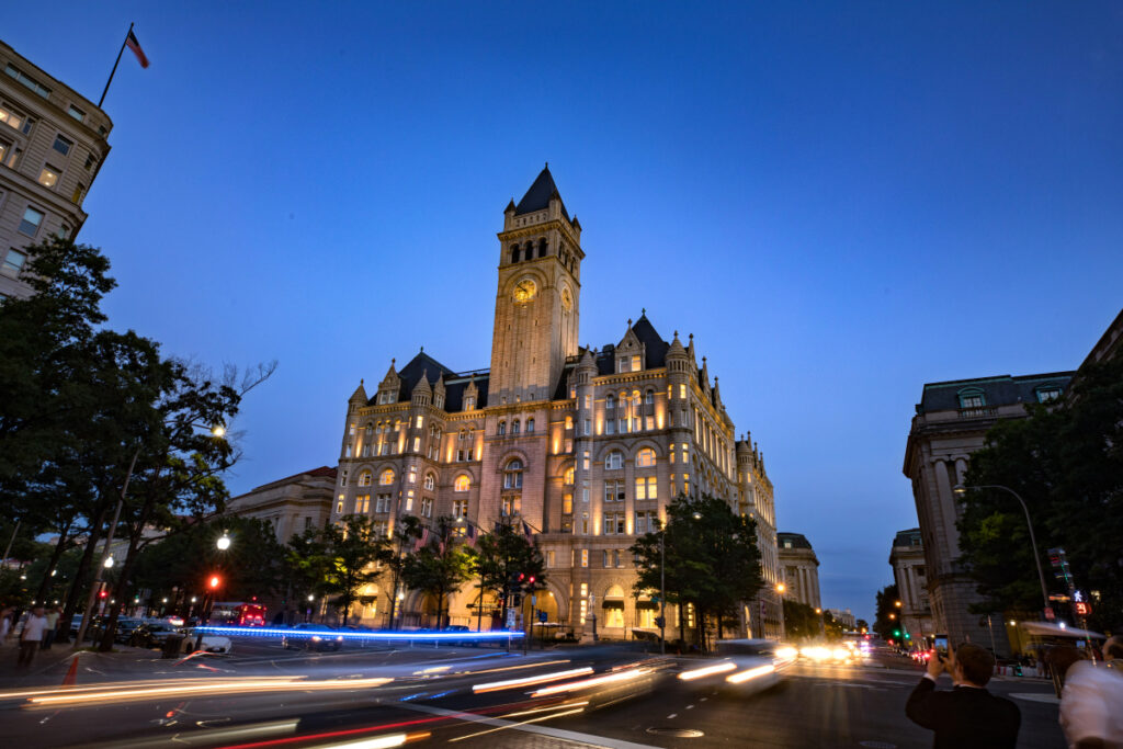 The Trump International Hotel in Washington, D.C. T-Mobile has spent about $195,000 at the president's hotel since April.