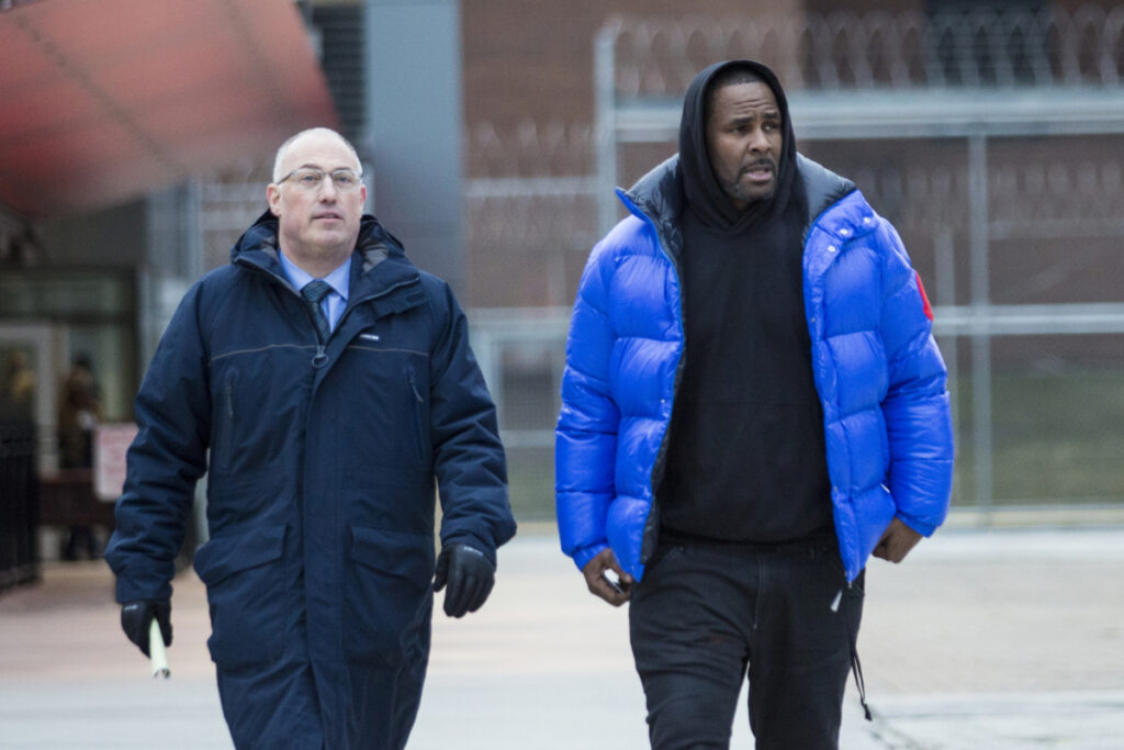 "R. Kelly leaves Cook County Jail in February with his defense attorney, Steve Greenberg, after posting $100,000 bail. He was taken back into custody on Wednesday. In his first interview since being charged with sexually abusing four people, including three underage girls, R. Kelly says he ""didn't do this stuff"" and he's ""fighting for his life."