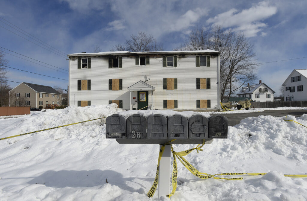Ten people, including several children, were displaced last week when the apartment building on Bell Street in Berwick burned and a firefighter was killed.