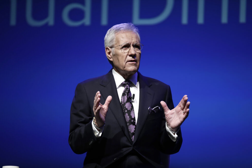 "Alex Trebek has hosted almost 8,000 episodes of ""Jeopardy."" Associated Press/Matt Rourke"