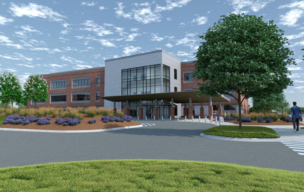 An artist's rendering of Maine Medical Center's planned $59 million medical office in Scarborough.