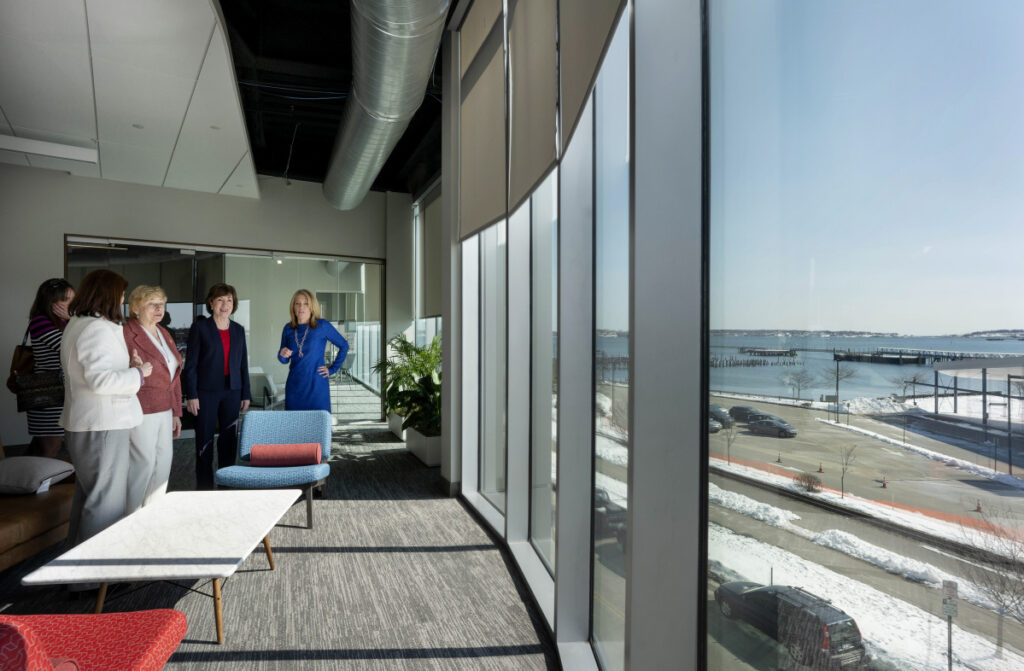 Collins and Mills take the tour as Wex shows off its new