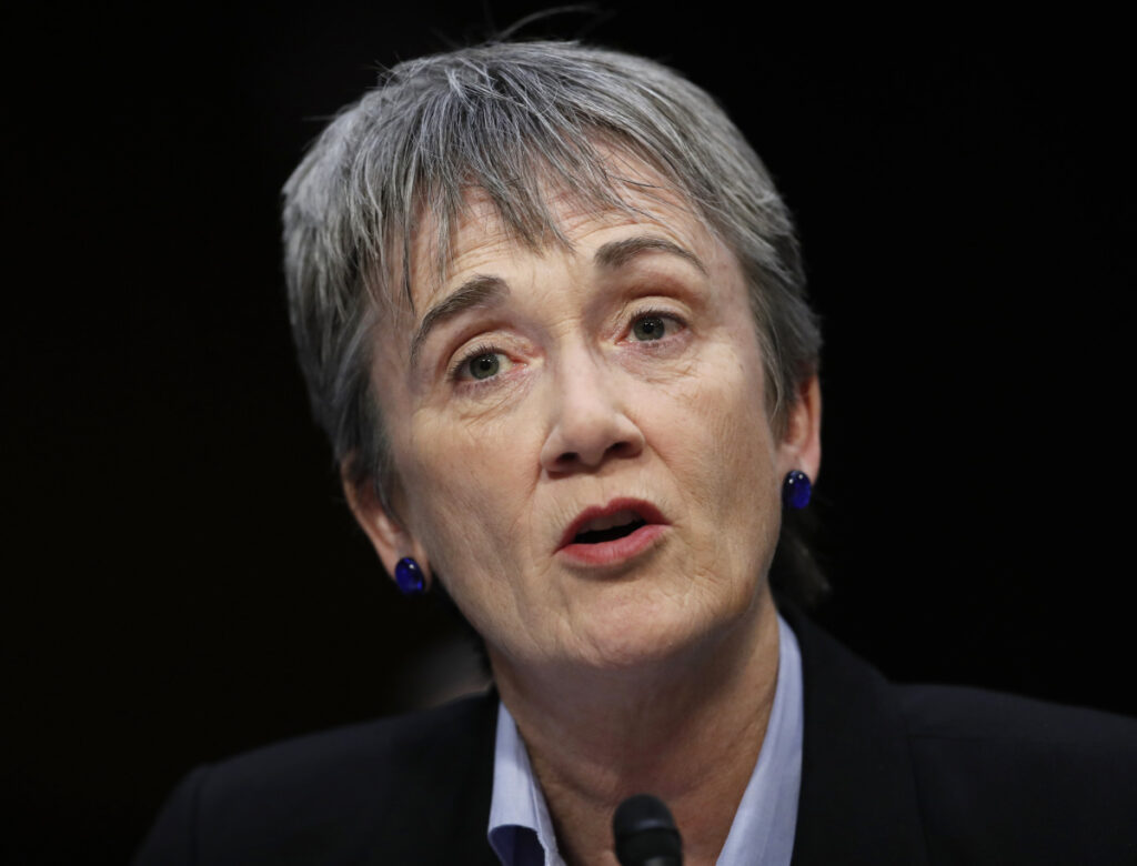 Air Force Secretary Heather Wilson is a former U.S. House Republican member from New Mexico and graduate of the U.S. Air Force Academy. She announced her resignation Friday.