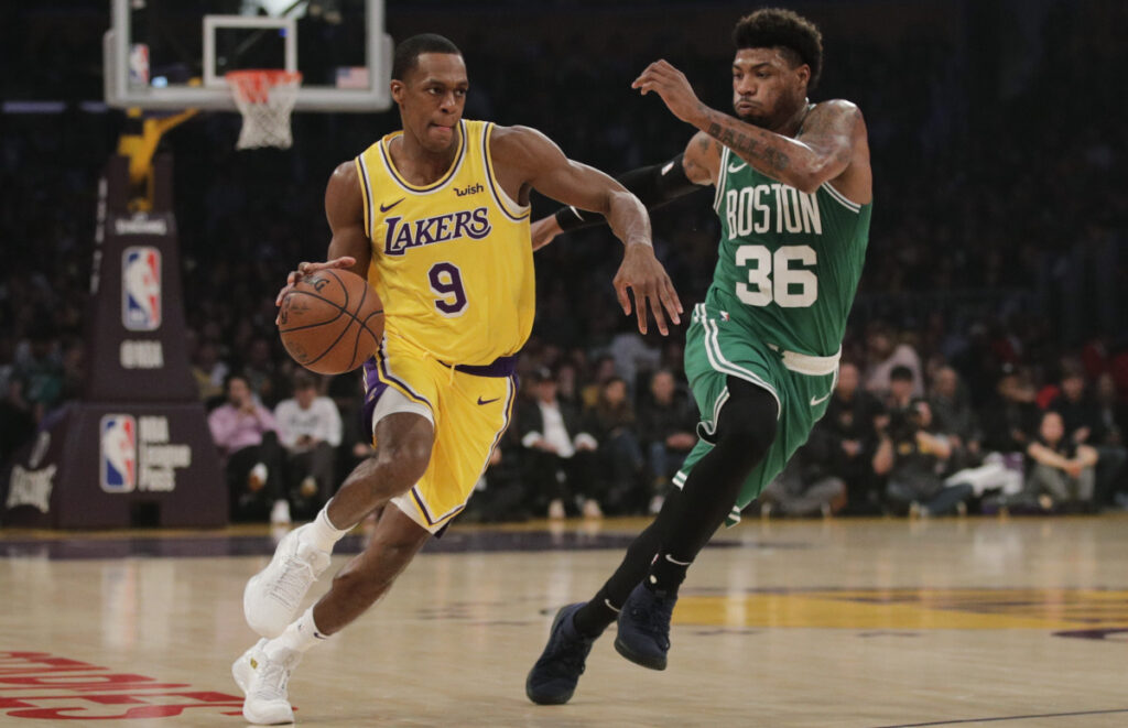There was a time when Rajon Rondo was wearing Celtics green and making life miserable for the Lakers. He know plays in Los Angeles, something unimaginable when he was in Boston.