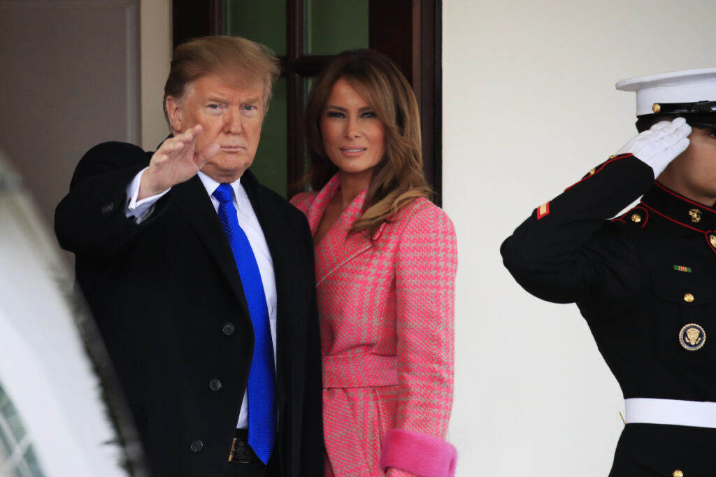 President Trump has a theory about those Melania body-double rumors
