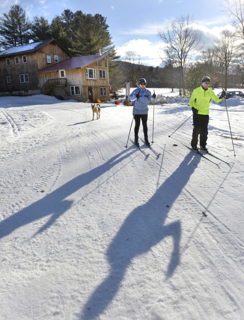 Carter's X-C Center  is an institution, founded by David Carter who is a legend in New England's cross country skiing circles.  Carter died last Spring but his family is carrying on the business. Eric Hartell and Stephanie Kindel head out for a mornings ski on a recent visit to the Center.
