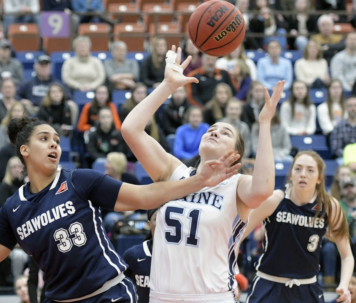 Fanny Wadling has averaged 8.9 rebounds this season in 21 games for the University of Maine. She also has 20 blocks, 31 steals and 41 assists, showing her all-around value for the Black Bears, who are a win away from an NCAA tourney appearance for the second straight year.