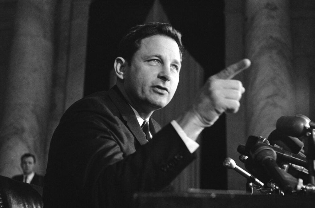 In 1968, Sen. Birch Bayh, D-Ind., was chairman of the Senate constitutional amendments subcommittee, championing federal law banning discrimination against women in college admissions and sports.