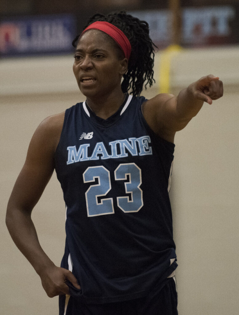 Tanesha Sutton scored 24 points the last time Maine played Hartford. The teams split two regular-season games.