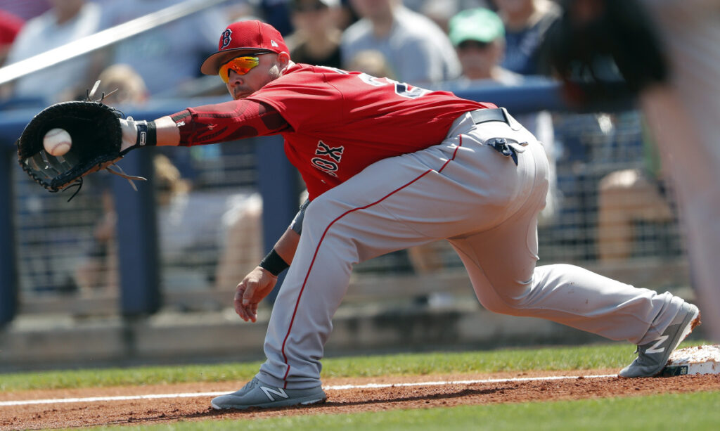 Steve Pearce had gone 0 for 12 this spring for the Boston Red Sox after winning the World Series MVP award. But that changed Thursday when he hit two home runs against the Detroit Tigers in a 4-4 tie that snapped Boston's seven-game losing streak.