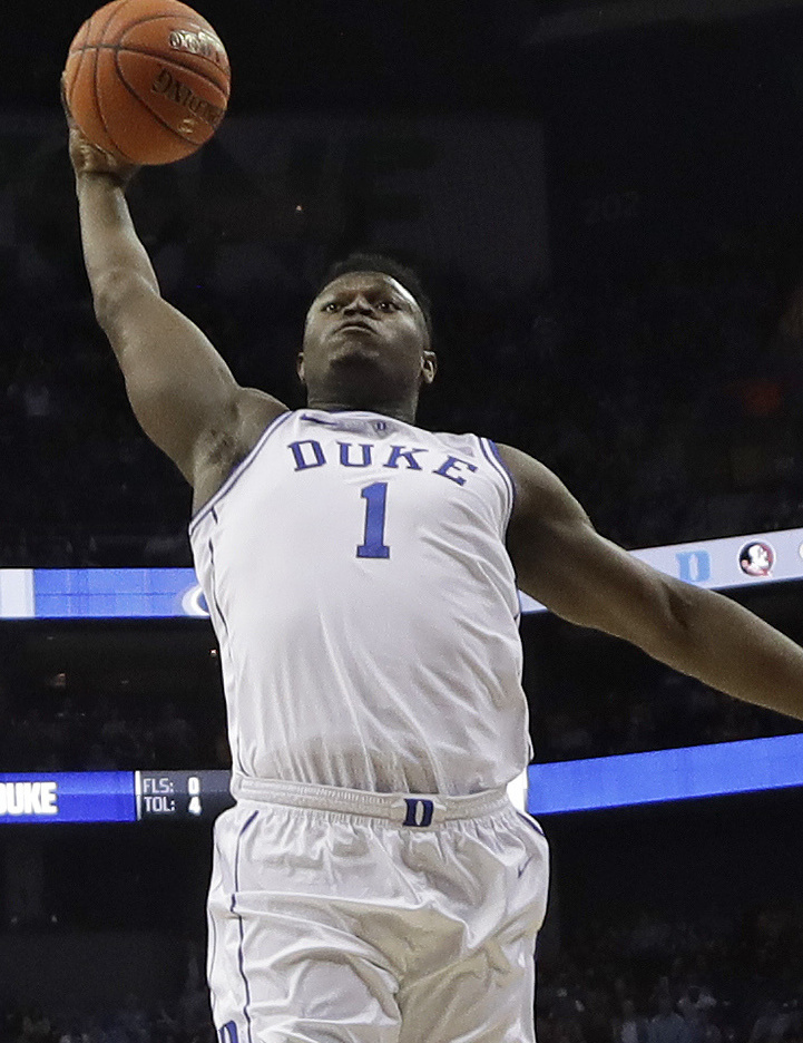 Zion Williamson returned Thursday night for Duke against Syracuse in the ACC tourney. Williamson had 29 points and 14 rebounds in an 84-72 victory.