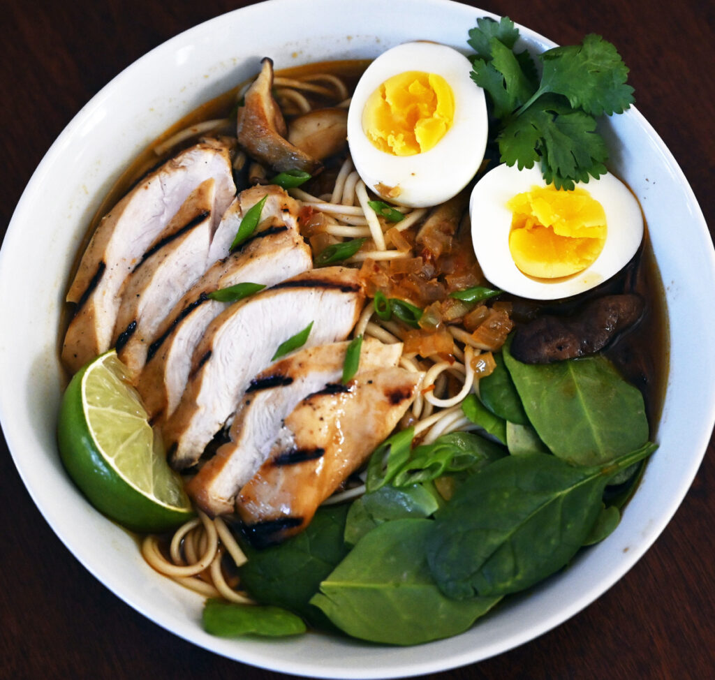 Christine Burns Rudalevige's Maple-Miso Ramen.