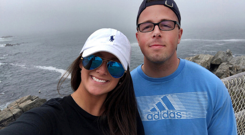 Shawn Mckeough Jr., 23, was killed in Arkansas Friday when he tried to stop an armed robbery. He's a Westbrook native and was stationed at a nearby Air Force base. He posed for this photo with his girlfriend, Sarah Terrano, in May of last year at Portland Head Light.