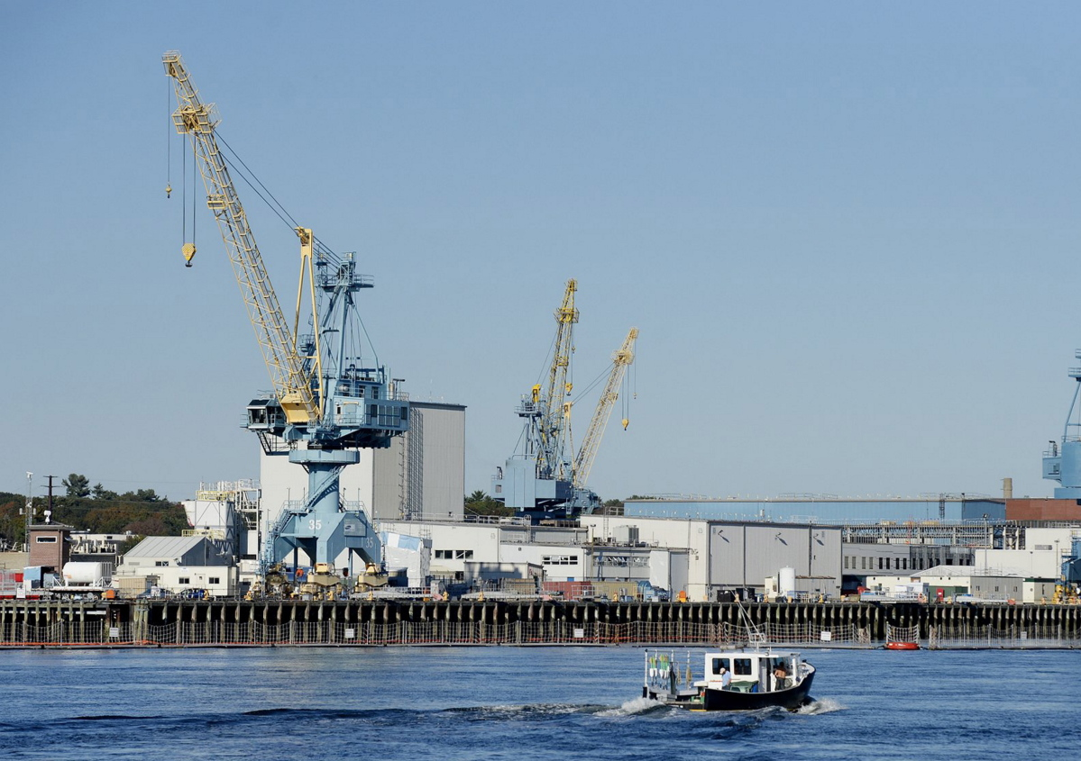 The Portsmouth Naval Shipyard in Kittery could lose funding for crucial facility improvement projects if funds are diverted to build President Trump's wall along the southern border with Mexico.
