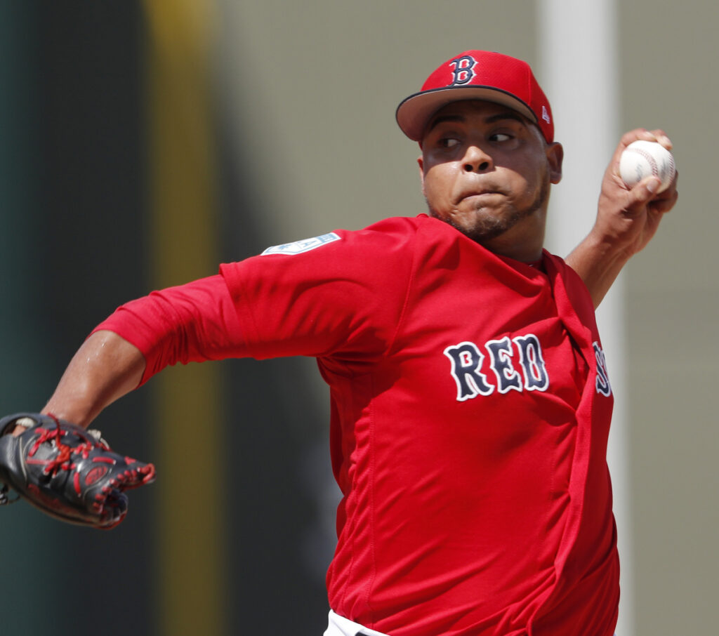 Darwinzon Hernandez, who pitched in Class A last season, has impressed the Red Sox in spring training, allowing one run in 10 innings over five appearances.