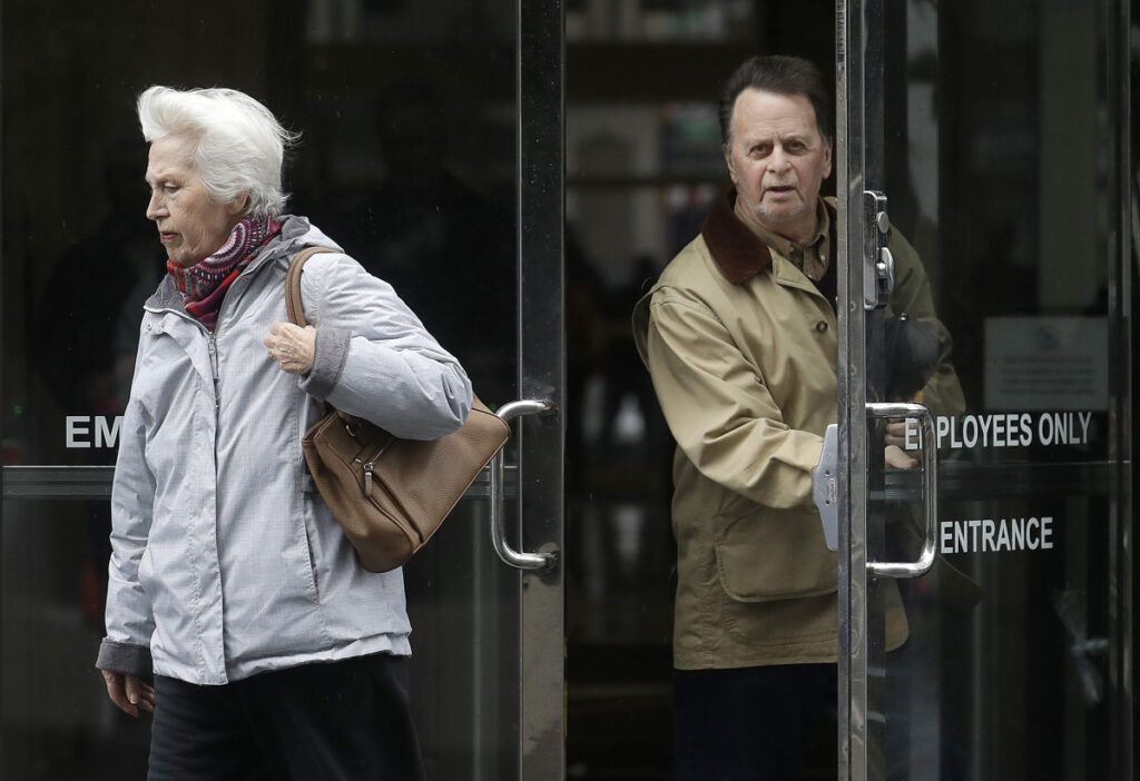 Edwin Hardeman leaves the federal courthouse in San Francisco last month with his wife Mary. Hardeman claimed his non-Hodgkin's lymphoma was caused by the weed killer Roundup and a jury has agreed