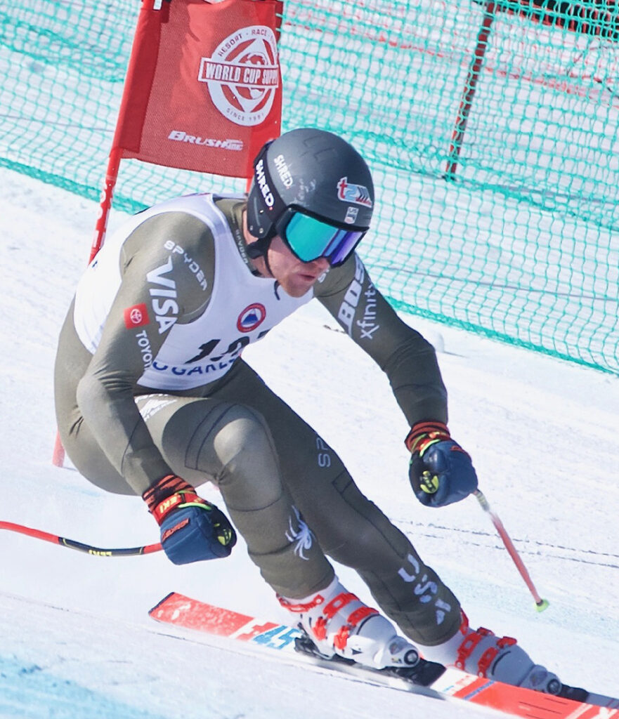 Ryan Cochran-Siegle of Vermont wins the super-G title Wednesday at the U.S. Alpine Speed Championships at Sugarloaf. He won by nearly a full second.