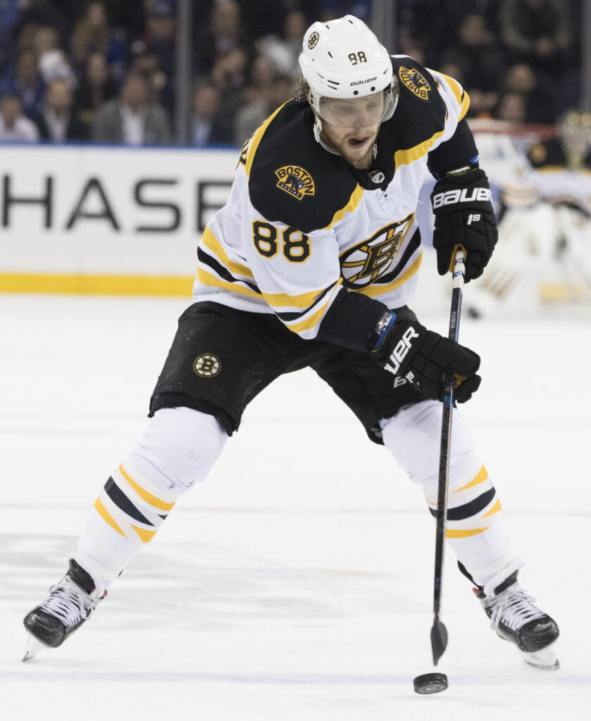 Boston's David Pastrnak's skating was certainly up to speed during Tuesday's win over the Islanders, though his hands are still adjusting following a thumb injury.