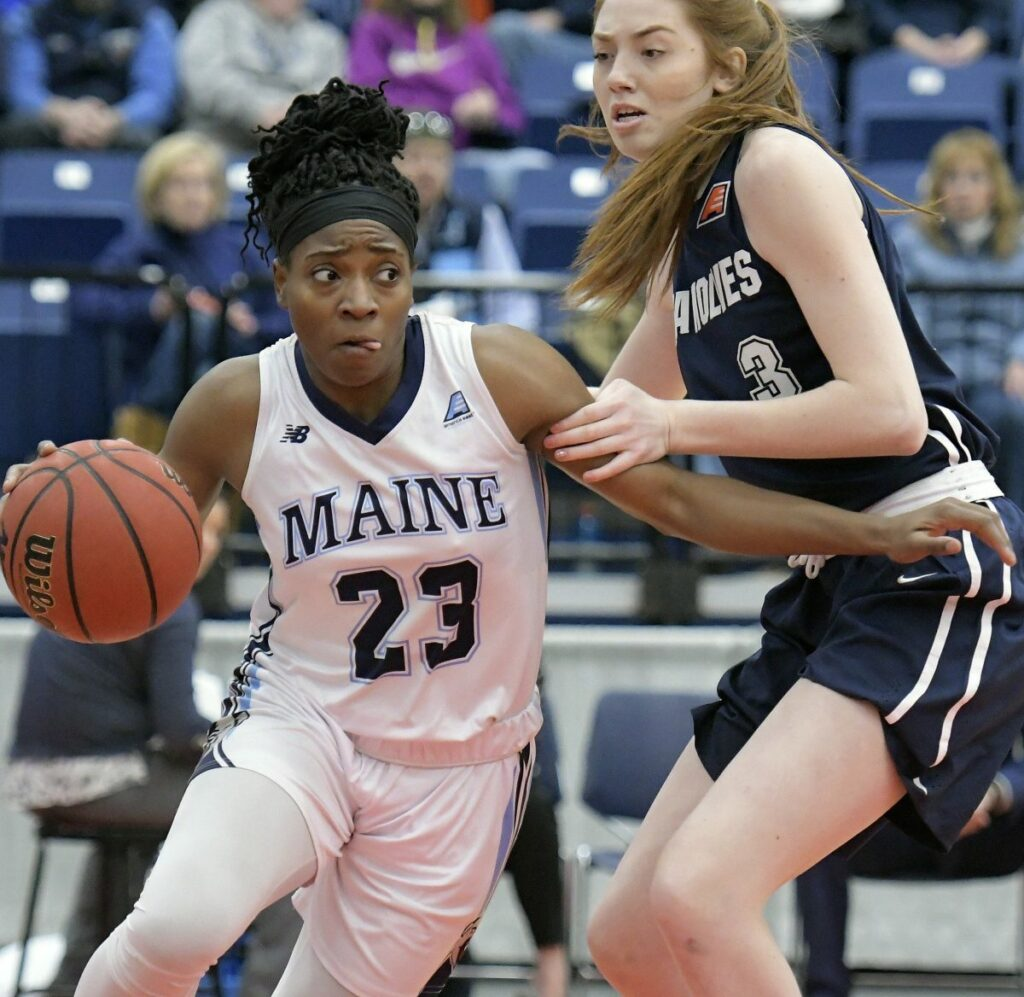 Tanesha Sutton, a post player in a guard's body, averaged 14.6 points and 7.4 rebounds per game for the Black Bears this season,