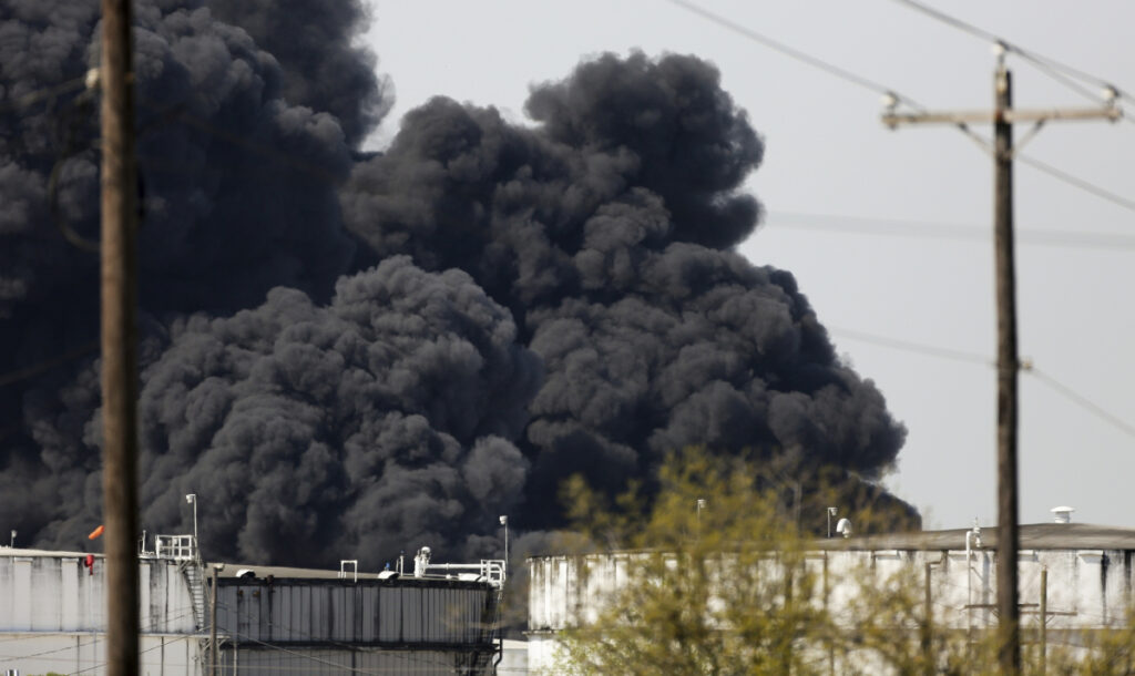 The petrochemical fire at Intercontinental Terminals Co. reignited as crews tried to clean out the chemicals that remained in the tanks Friday in Deer Park, Texas.