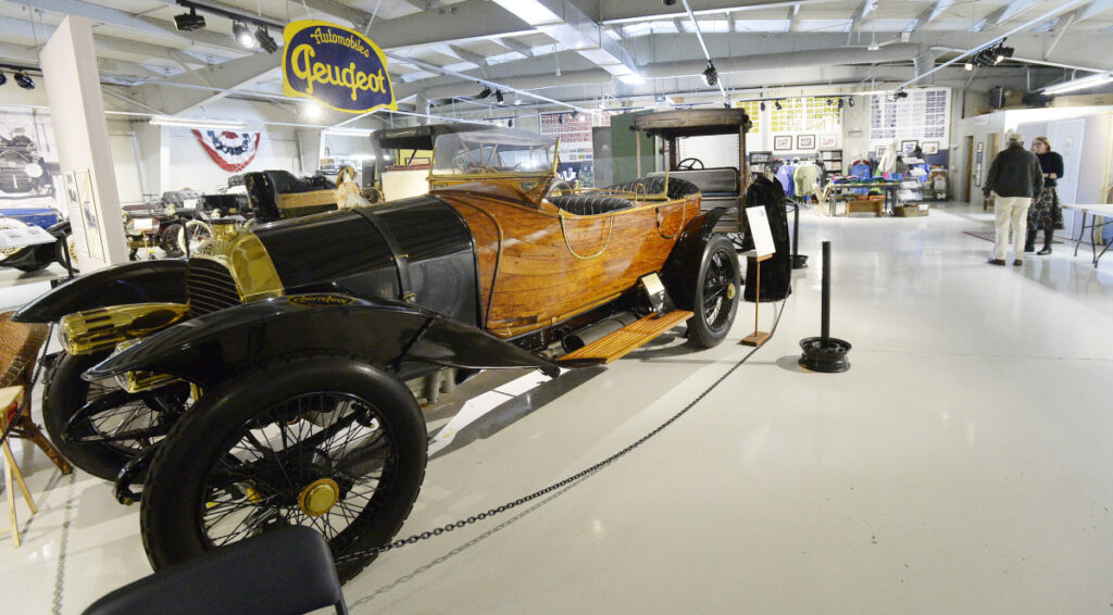 The most-valuable asset at the Seal Cove Auto Museum in Tremont is this 1913 wood-bodied Peugeot.