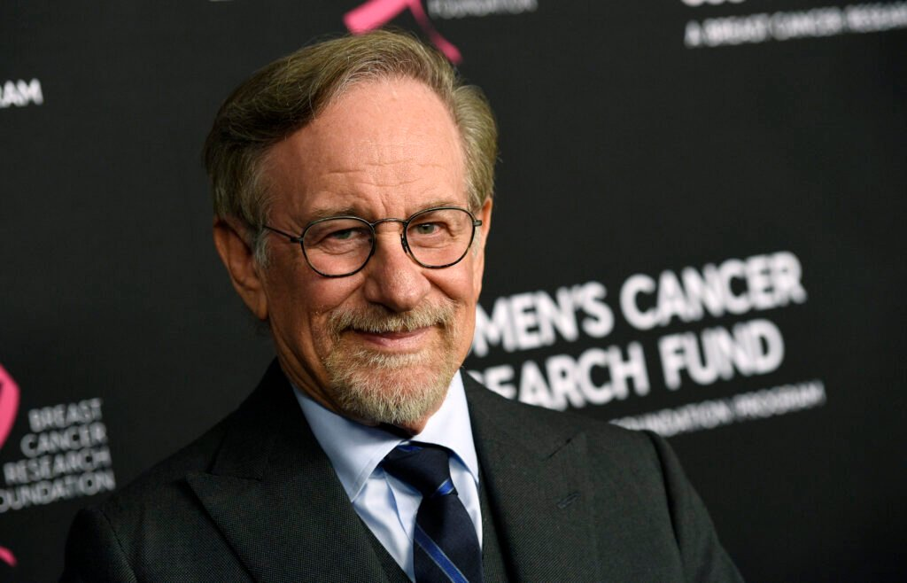 """In this Thursday, Feb. 28, 2019, file photo, filmmaker Steven Spielberg poses at the 2019 """"An Unforgettable Evening"""" benefiting the Women's Cancer Research Fund, at the Beverly Wilshire Hotel, in Beverly Hills, Calif. Reports that Spielberg intends to support rule changes that could block Netflix from Oscars-eligibility have provoked a heated and unwieldy online debate."""