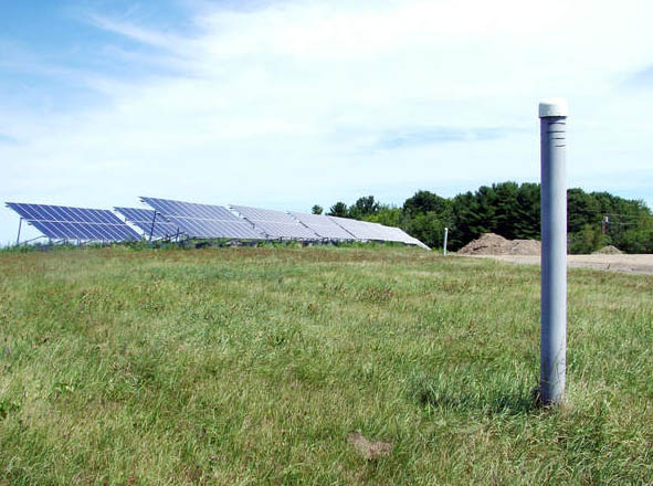 A 115-kilowatt array on Pitcher Road is one of the solar energy projects powering municipal buildings in Belfast.
