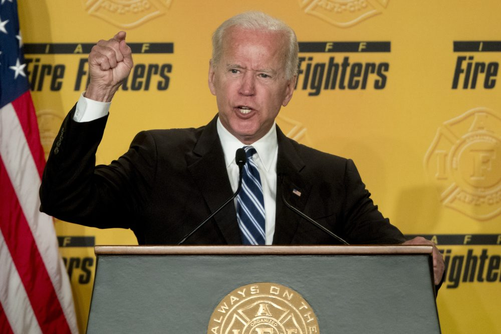 Former Vice President Joe Biden, shown March 12 ,  says he does not recall kissing a Nevada political candidate on the back of her head in 2014.